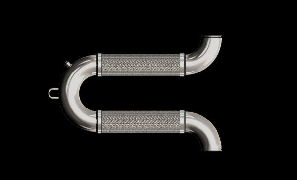 Dimensiones de la manguera de conexión sísmica U-Flex Omage Loop